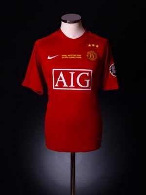 man utd 2008 champions league final shirt