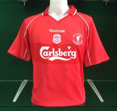 Liverpool 2001 uefa cup final shirt