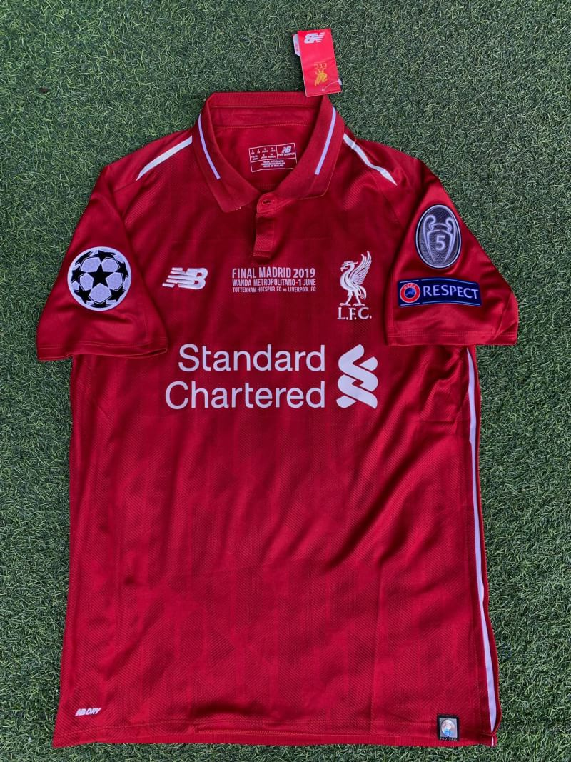 hot sale online e06cd 3a9dd Liverpool Champions League Final Shirt 2019