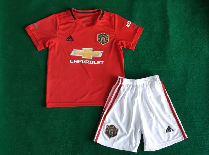 cheaper 51fcc eccb5 Kids Manchester United Home Kit 2019/20