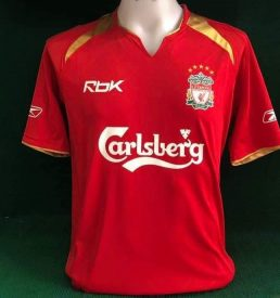 Liverpool Home Shirt 2005/06 Special Edition Gerrard Gold 8