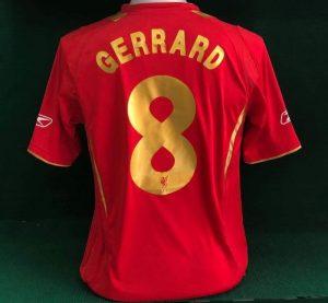 Liverpool Home Shirt 2005/06 Special Edition Gerrard Gold 8