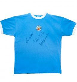 Manchester City FC Signed Retro Shirt
