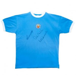 Manchester City FC Signed Retro Shirt